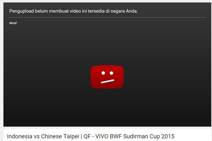 youtube yang diblokir